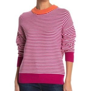 Elodie Striped Crew Neck Pullover Sweater